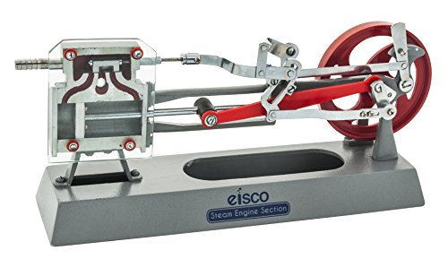 Eisco Labs Steam Engine Model - Working Piston, Slide Valve, and Link Motion