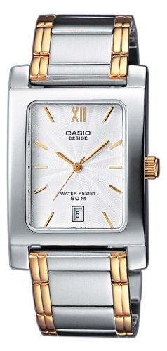 a39954fb11f0 Casio BEM-100SG-7AVEF - Reloj analógico de cuarzo para mujer con correa de  acero inoxidable