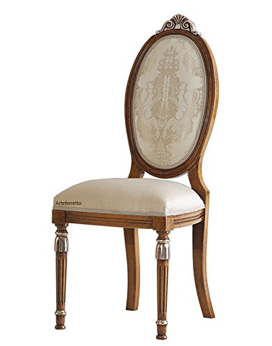Sedia schienale ovale comodo e ampio, Sedia struttura in legno ...