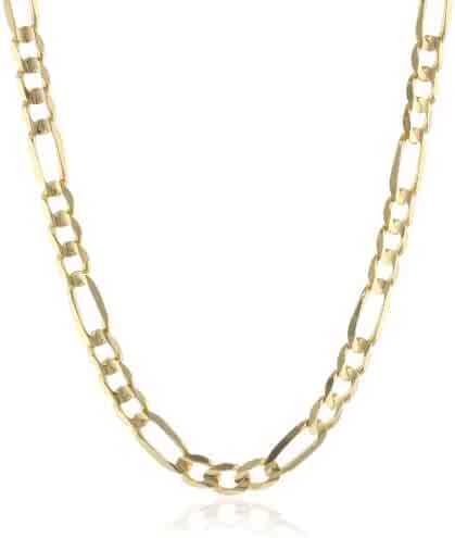 Men's 14k Gold 6.7mm Figaro Chain Necklace