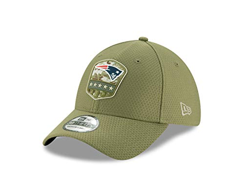New Era NFL 2019 Salute to Service Adjustable 39Thirty 3930 Hat Cap (New England Patriots, Medium/Large)