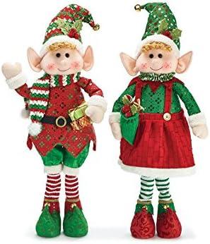 Burton Burton Merry Sparkle Elf Couple Stand 30 inch Tall