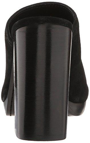 Frye Women's Karissa Mule Platform Dress Sandal, White, 6 M US Black