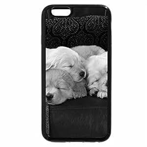 iPhone 6S Plus Case, iPhone 6 Plus Case (Black & White) - cute puppies sleeping