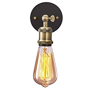 Industrial Wall Light 2 Pack, Licperron E26 Vintage Wall Sconce Lamp Fitting Fixtures with E27 Lamp Holder for Restaurant Bar Hotel Coffee Shop Decoration