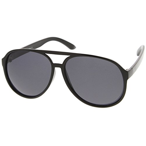 zeroUV - Retro Large Plastic Aviator Sunglasses with Polarized Lens Ditka Hangover Alan Burt Macklin FBI (Polarized | - Frame Large Plastic