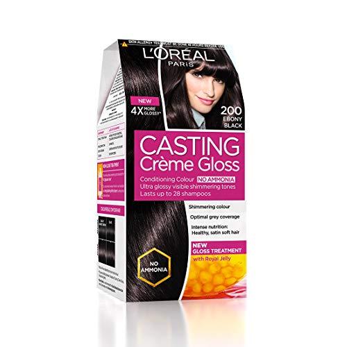 L'Oreal Paris Casting Creme Gloss, Ebony Black 200,87.5g+72ml