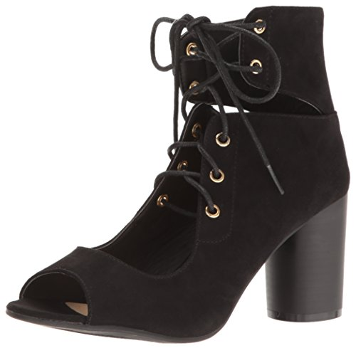 Qupid 03 Cylinder Ankle Women's Black Bootie EArqAx