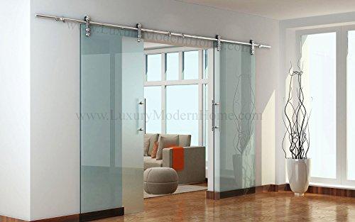 BERLIN - 2.5M - DOUBLE Sliding Glass Door Hardware (100'' opening - Max 2 - 50'' doors) by LuxuryModernHome.com (Image #9)