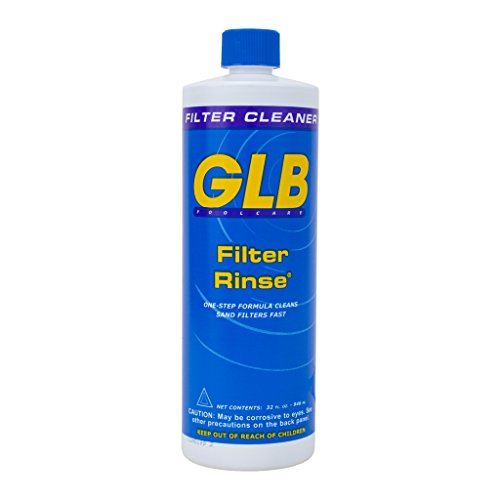 Rinse Filter Cleaner - GLB Pool & Spa Products 71014 1-Quart Filter Rinse Pool Filter Cleaner