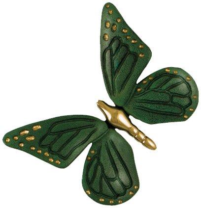 s MH1002 Monarch Butterfly Door Knocker, Brass/Green Patina ()