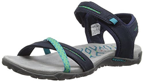 Merrell Womens Ladies Terran Cross II Lightweight Casual Walking Sandals Navy Leather UK Size 6 (EU 39, US ()