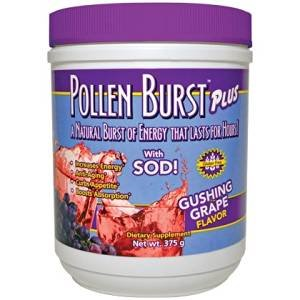 Gushing Grape Energy Drink Pollen Burst Plus 375g - 4 Pack by Youngevity