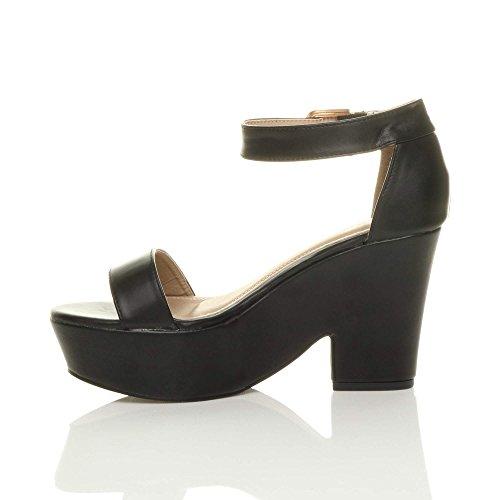 Compens Femmes Ouvert Hauts Bout Talons Sandales Chaussures Ow70FOq