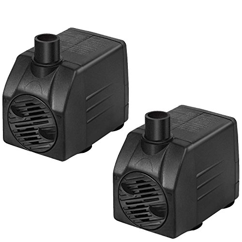 - Simple Deluxe 120 GPH UL UL Listed Submersible Pump with 6' Cord, Water Pump for Fish Tank, Hydroponics, Aquaponics, Fountains, Ponds, Statuary, Aquariums 2-Pack