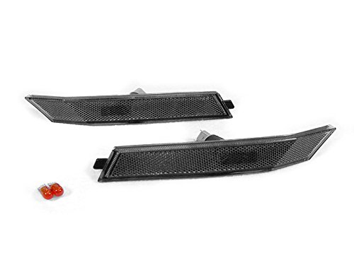 DEPO Smoke Side Marker Lights + Amber Bulbs FIT FOR 2006-2008 Ford Fusion