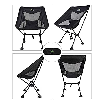 BERSERKER OUTDOOR Ultralight Compact Folding Camping Chairs Portable Lightweight Backpack Hiking Chair with All-Terrain Large Feet& Heavy Duty 300lbs for Outdoor Camp, Beach, Picnic, Travel : Sports & Outdoors