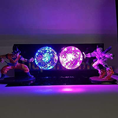 KAKALIN Dragon Ball Z Son Goku & Freeza Power up Led Light Lamp Whole Set Gift Toys for Xmas: Toys & Games