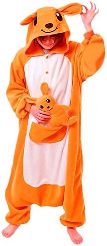 Partilandia Disfraz Canguro Adulto Pijama Kigurumi: Amazon.es ...