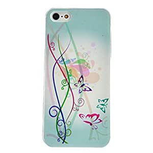 TOPMM Vine and Butterfly Pattern PC Hard Case with Transparent Frame for iPhone 5/5S