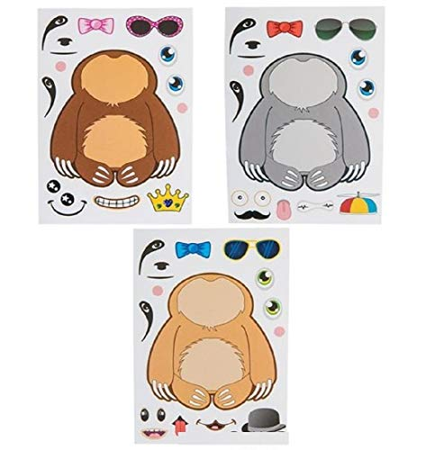 Make Your Own Stickers Set Make a Sloth for Party Favors Craft Projects for Animal Lovers (12 Sheets)