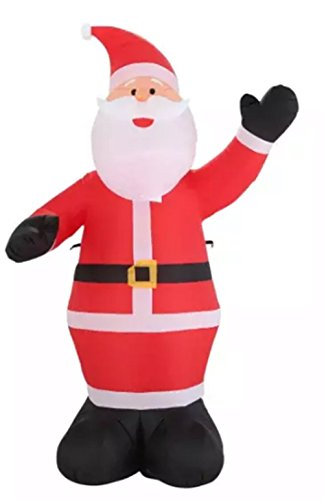 Holiday 9 ft Inflatable Waiving Santa Claus Inflatable Outdoor Yard Airblown