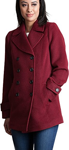 Overland Sheepskin Co Kate Alpaca Wool-Blend Pea Coat Baby Alpaca Jacket