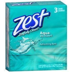 (3 Pack) Zest Aqua 4 oz. 3 Bar ct :: 9 Bars Total