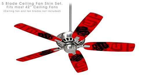 Oriental dragon black on red ceiling fan skin kit fits most 42 oriental dragon black on red ceiling fan skin kit fits most 42 inch fans aloadofball Gallery