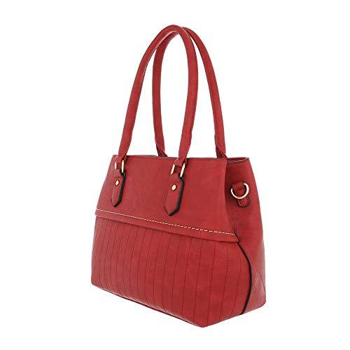 mujer hombro Sintético Size al Bolso Ital de Rojo Design para rojo One Xg0Own6