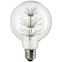 Sunlite 1.8W Vintage Style Filament LED Light Bulb Replacement for G30 Globe Incandescent Bulb