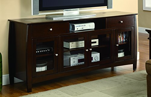 Coaster Home Furnishings 700693 Casual TV Console, Walnut - Home Entertainment Walnut