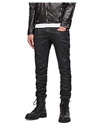 G-Star Raw Men's Revend Super Slim Fit Pant in Black Print Stretch Denim