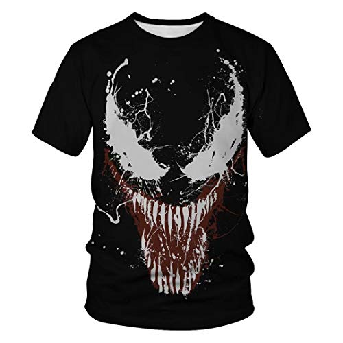Tsyllyp Women Men Superhero T Shirts Venom Halloween Costume T-Shirt Tops Tees]()