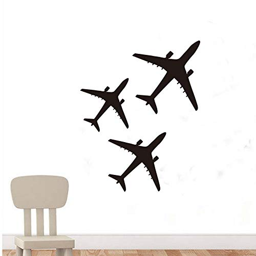 ponana Cute Airplane Plane Wall Sticker Vinyl Decal Horse Art Cartoon Decorations for Home Kids Baby Room Nursery Decor 58X74Cm