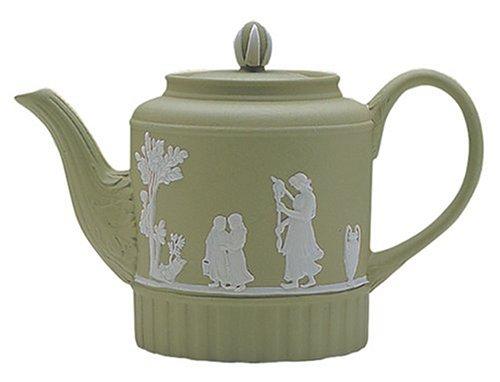 Wedgwood Sage Green Jasperware Mini Teapot