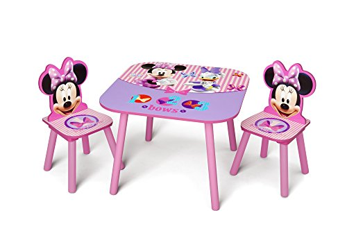 Delta Children Kids Table and Chair Set (2 Chairs Included), Disney Minnie Mouse -