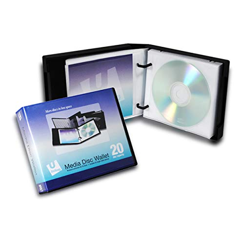 Empty UniKeep 20 CD | DVD Wallet - Case of 20 - Black by Univenture