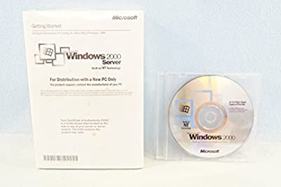 Microsoft Windows 2000 Server NT Technology Operating System Driver PC Computer Software Program Recovery Replacement Disc Only + Manual