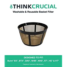 Bunn Replacement Basket Coffee Filter Fits BX, BTX, GRX, NHB, NHS, ST, HG & HT, Designed & Engineered by Crucial Coffee