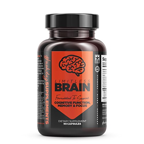 Limitless Brain Pill Extra Strength Brain Support Supplement for Clarity, Memory and Focus – 30 Day Supply (90 Capsules) – Mental Performance Nootropic With Alpha GPC and Huperzine A For Sale