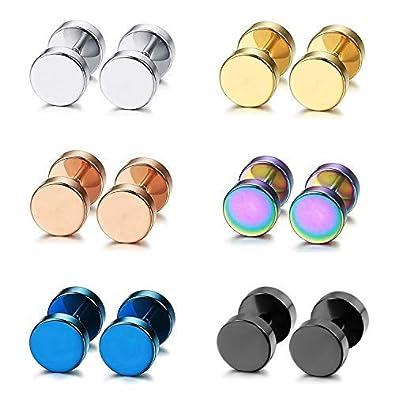 4c61d18023d0 Aroncent Pendiente Acero Inoxidable Quirúrgico para Oído Dumbbells Aretes  de Perno Forma de Pesas Chulo para Hombre Mujer Unisex