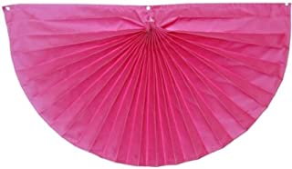 product image for Independence Bunting - 3' x 6' Fully Sewn American Made Pink Breast Cancer Awareness Pleated Fan Flag Bunting with Embroidered Pink Ribbons