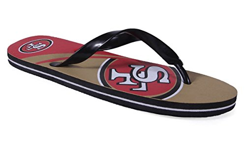 Forever Collectibles Happy Feet Heren En Dames Officieel Gelicentieerd Groot Logo Flip Flops San Francisco 49ers