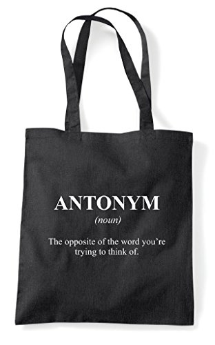 In Definition Alternative The Antonym Tote Funny Black Shopper Dictionary Not Bag dXpIpwqx