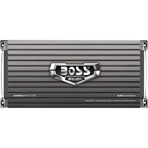 BOSS Audio AR2000M Armor 2000 Watt, 2/4 Ohm Stable Class A/B, Monoblock, Mosfet Car Amplifier with Remote Subwoofer (Car Audio Aveo)