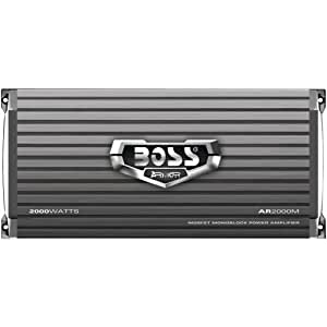 BOSS Audio AR2000M Armor 2000 Watt, 2/4 Ohm Stable Class A/B, Monoblock, Mosfet Car Amplifier with Remote Subwoofer Control