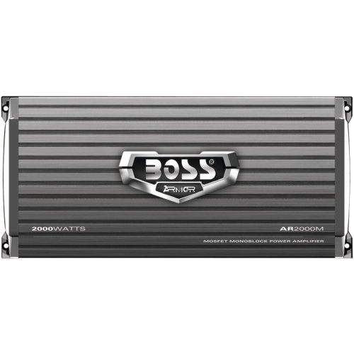 BOSS Audio AR2000M Armor 2000 Watt, 2/4 Ohm Stable Class A/B, Monoblock, Mosfet Car Amplifier with Remote Subwoofer Control - 1200 Bass Amplifier