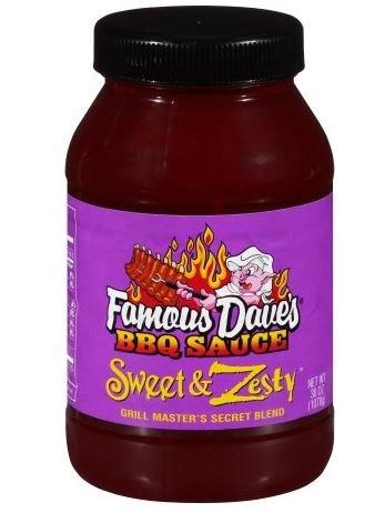 Famous Dave's: Sweet & Zesty BBQ Sauce, 38 Oz