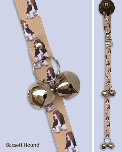 Poochie-Bells Housetraining Dog Doorbell, Breed-Specific Design (12 Breeds Available) (Basset Hound)